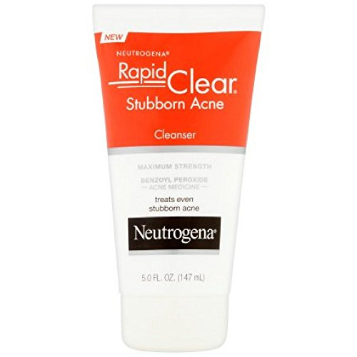 Neutrogena Rapid Clear Stubborn Acne Cleanser 5 oz (Pack of 2)