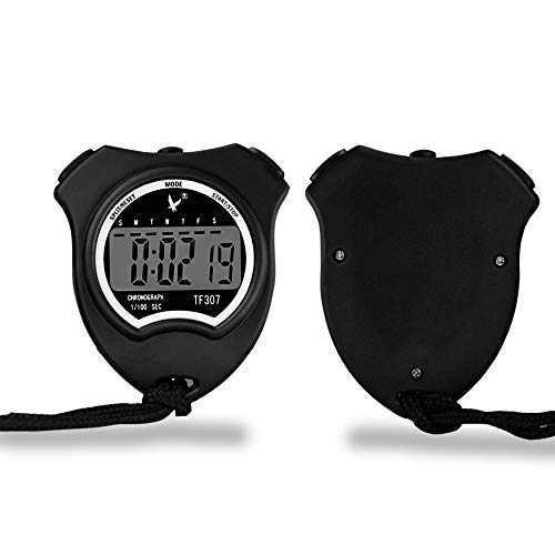 (Multi-function Electronic Sports Stopwatch Water Resistant Timer Countdown Timer and Stopwatch Record for Sports Coaches Fitness Coaches and Referees)