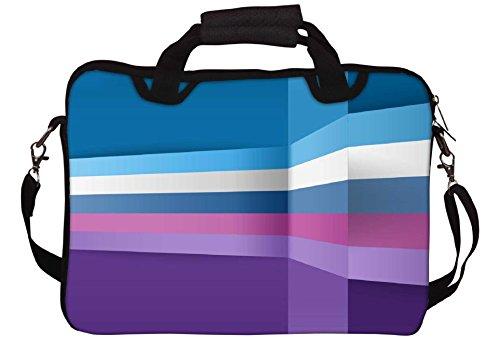 Snoogg 3D-Layer-Linien 2393 Gedruckt Notebook-Tasche mit Schultergurt 15 bis 15,6 Zoll