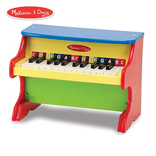Melissa & Doug Learn-to-Play Piano With 25 Keys and Color-Coded Songbook of 9 Songs (Best Musical Instrument For Child To Learn)