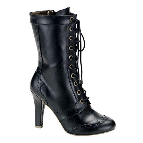 Heels-Perfect - Cerrado de cuero mujer negro - negro