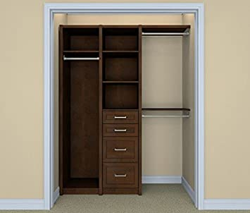ClosetMaid 6106140 Spacecreations Wood Closet Organizer Kit, 52 Inch To  87 Inch,