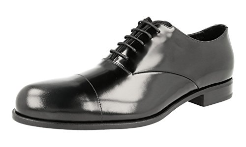 Prada Men's 2EE206 P39 F0002 Brushed Spazzolato Shoes Leather Business Shoes Spazzolato B076QJ2LPP Shoes 9e5c7a
