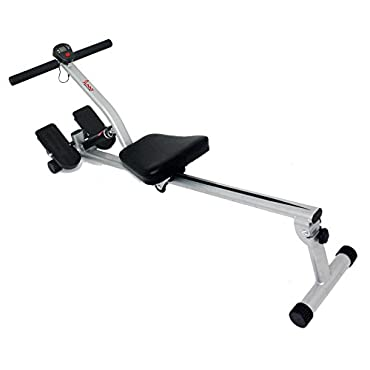 Sunny Health & Fitness SF-RW1205 12 Adjustable Resistance Rowing Machine Rower w/ Digital Monitor