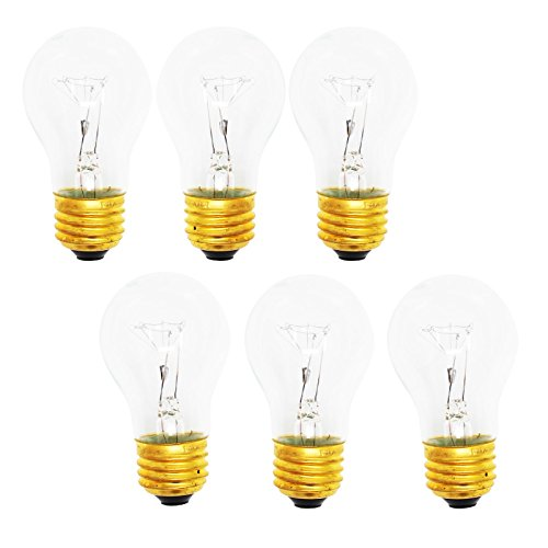6-Pack Replacement Light Bulb for General Electric HTS17GBSARWW - Compatible General Electric 8009 Light Bulb ()
