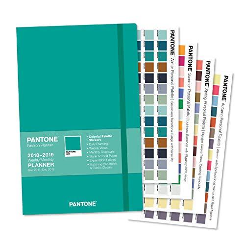 Pantone Fashion - PantoneTM 2019 Fashion Planner Compact Weekly Aqua PMS 3285