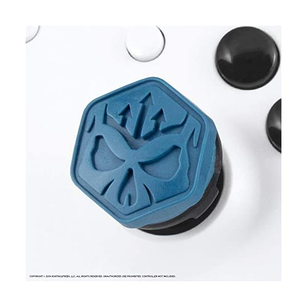 KontrolFreek Call of Duty Modern Warfare Performance Thumbsticks for Xbox One | 2 Mid-Rise, Convex | Blue/Black 5