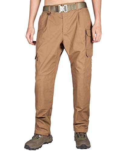 ITALY MORN Men's Survivor Casual Cargo Pant Relaxed Fit Military Outdoor (28W x 32L, Brown 19)