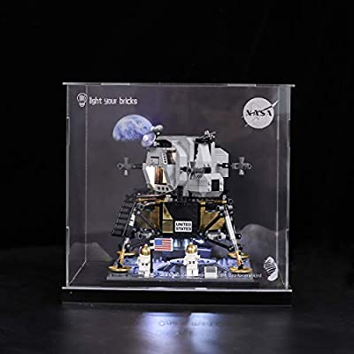 RAVPump Acrylic Display Case for Lego NASA Apollo 11 Lunar Lander - Clear Display Box Showcase Compatible with Lego 10266 ( Lego Set not Included ): Toys & Games