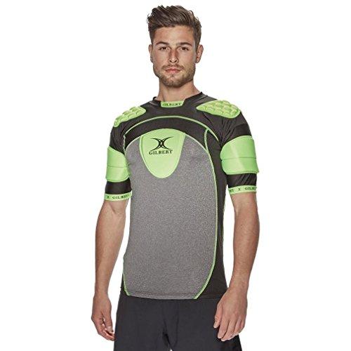 - Gilbert Atomic Zenon V2 Men's Rugby Body Armour, Grey, XXL