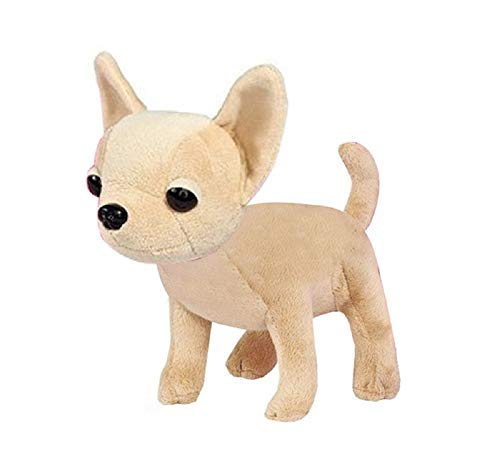 PAPPET Chihuahua Stuffed Animal Mini Chihuahua Plush Realistic Cute Puppy Dog Kids Toy Lifelike Pet Animal Doll for Children Birthday Christmas Valentines Gifts - 4 inch