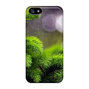 Cute Appearance Cover/tpu Beautiful Green Pine Case For Iphone 5/5s