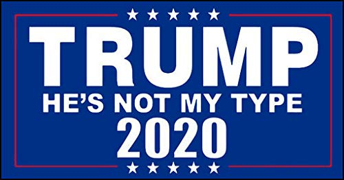 American Vinyl Trump Not My Type Bumper Sticker (20 2020 Anti Donald pro DNC no)