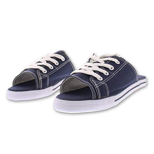Ladies Sandals Designer - Ace Lace Up Sandals for Women,Athletic Slide Sandals,Canvas Shoes,Sports Slides Navy 11 US