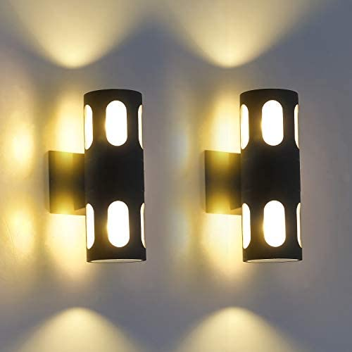 Modern Outdoor Wall Mount Lights Fixture 2 Pack
