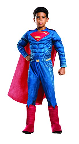 Rubie's Costume: Dawn of Justice Deluxe Muscle Chest Superman Costume, Medium (Boys Superman Costume)