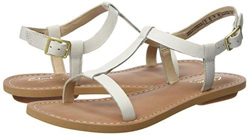 Leather Sandali 261259854 Donna Bianco Clarks white XUF7Ax4nq