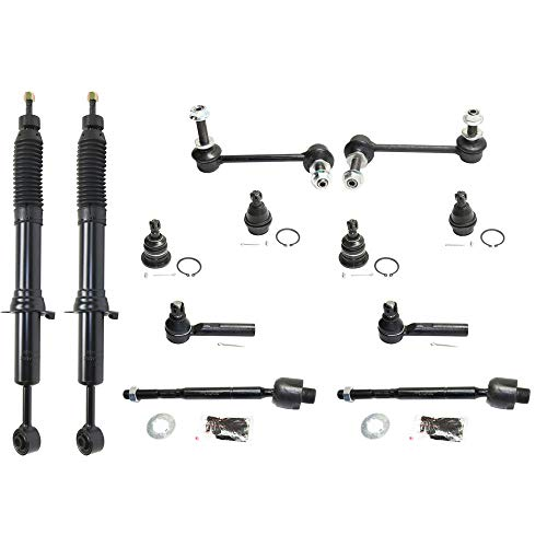 Suspension Kit for Lexus GX470 03-09 Set of 12 Front Right and Left Side With Shock Absorber Sway Bar Link and Tie Rod End