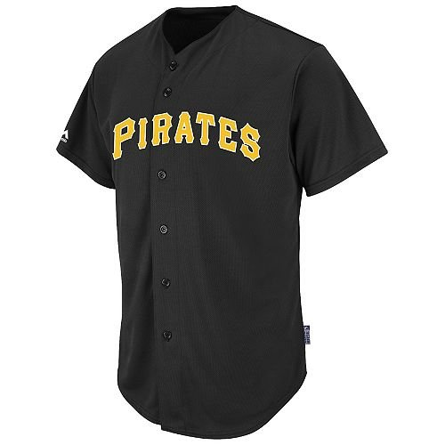 (Adult Small Pittsburgh Pirates BLANK BACK Major League Baseball Cool-Base Replica MLB Jersey)