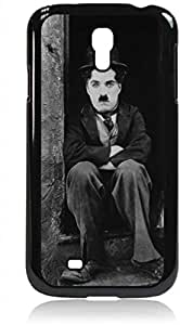 Charlie Chaplin- Hard Black Plastic Snap - On Case with Soft Black Rubber Lining-Galaxy s4 i9500 - Great Quality!