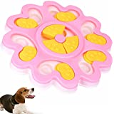 Seafirst Dog Food Dispenser Puzzle Toy Puppy Treat Food Dispensing Bowl Dog Training Puppy Puzzle Game Slow Feeder – Funny Entertainment Improve IQ Slow Down Feed (Pink)