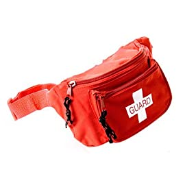 "Kemp 10-103 Hip Pack 1 Kemp USA Hip Packs are made to withstand the rigorous use of EMS professionals and guards in the field. They are made of durable, tear-resistant nylon construction, including a heavy duty adjustable 45"" waist strap. The hip pack comes with three water-resistant zipper pockets."