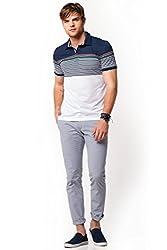 DeFacto Men's Striped Polo T-Shirt 3XL Indigo-220-08