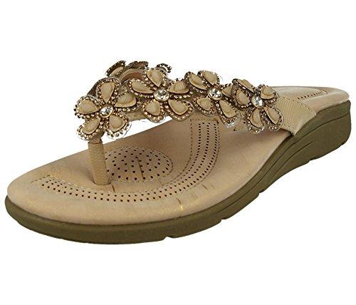 taille cuir femme 41 Cass pour Sandales en tendance 35 strass perle à w0wt7