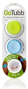 Humangear GoTubb, 3-Pack, Small (0.4oz), Clear/Green/Blue