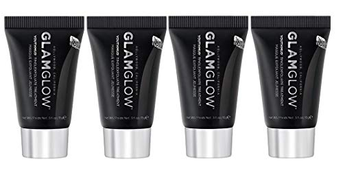 GLAMGLOW YOUTHMUD Tingling & Exfoliating Mud Mask, 0.5 Ounce (Pack of 4)