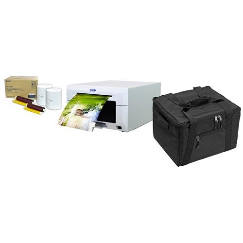 DNP DS620A Dye Sub Professional Photo Printer - Bundle with 2 Rolls 6x8'' Media (200 Prints Per Roll, 400 Total Prints), and Padded Printer Bag