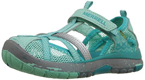 Kids Leather Youth Turquoise Shoes - Merrell Hydro Monarch Water Sandal (Toddler/Little Kid/Big Kid), Turquoise, 6 M US Big Kid