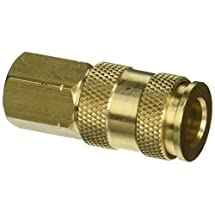 "Milton S-764 1/4"" FNPT V Style High Flow Coupler"