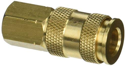 (Milton V-Style Hi-Flo Coupler Body - Brass, 1/4in. FNPT, Model# S764)