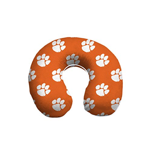 Pegasus Sports NCAA Clemson Tigers Clemson Tigers U-Neck Memory Foam Travel Pillow, Orange