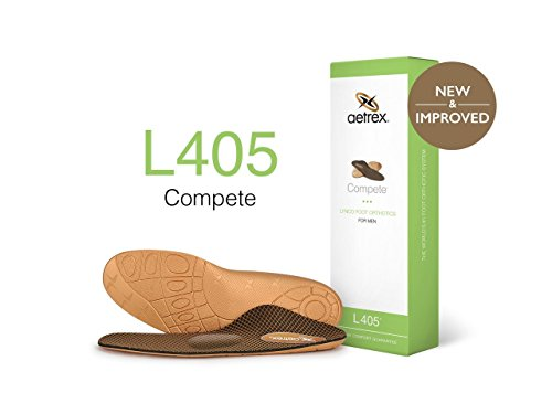Lynco Men's L405 Sport Metatarsal Compete Orthotic Tan 12 Medium ()