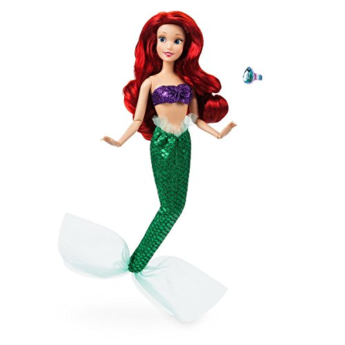 Disney Store Ariel Classic Doll with Ring - The Little Mermaid - 11 1/2'' 2018 Version (Disney Dills)