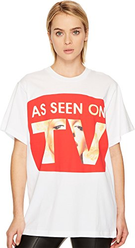 Jeremy Scott Women's As Seen On TV Tee White - Womens Jeremy Scott