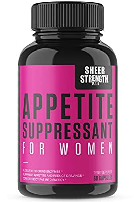 Sheer Appetite Suppressant for Women - Custom Formulated to Help You Slim Down, Tone Up, and Lose Weight Now, New from Sheer Strength Labs, 60 Weight Loss Pills