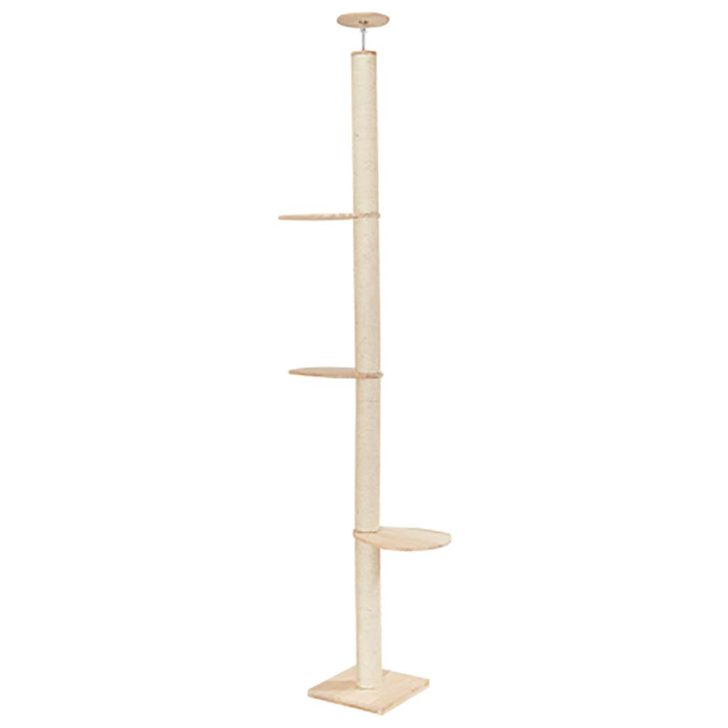A Ceiling Cat Tree, Structure, Sisal Rope Wrapped (Size A) Pine