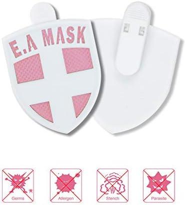 EAMASK Tragbare Schutzkarte für Kinder und Erwachsene zur Luftreinigung, antiallergische umfassende Pflege, Milbenentfernung, Geruchsentferner, Gesundheits-Konfiguration