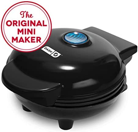 Dash Mini Maker The Mini Waffle Maker Machine for Individual Waffles, Paninis, Hash browns, other on the go Breakfast, Lunch, or Snacks – Black