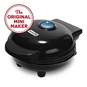 Dash DMW001BK Mini Maker for Individual Waffles, Hash Browns, Keto Chaffles with Easy to Clean, Non-Stick Surfaces, 4…