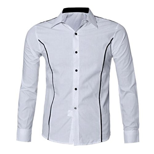 H&N HN Fashion Mens Shirts Casual Long Sleeve Slim for sale  Delivered anywhere in USA
