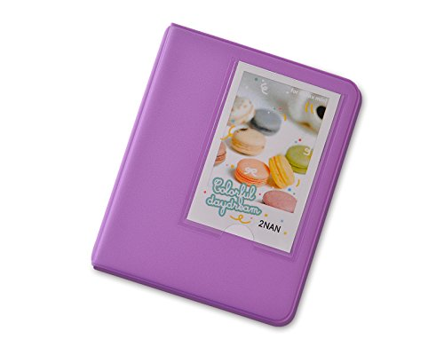 DSstyles 64 Pockets Candy Fuji Instax Mini Book Album For instax mini 7s 8 25 50s Film - Purple OTH0084