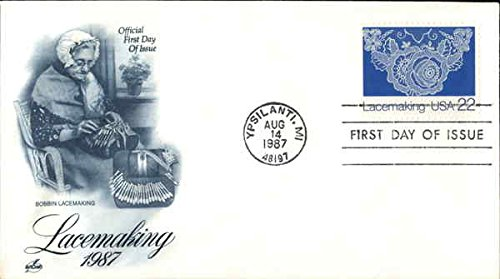 Lacemaking, 1987, Bobbin Lacemaking Original First Day Cover