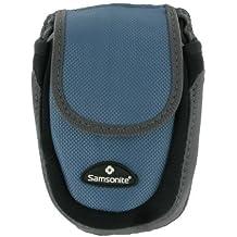 Samsonite Water-Resistant Camera Case (Blue) - Fits Canon PowerShot: ELPH 180, ELPH 350 HS, ELPH 190 IS, ELPH 360 HS, ELPH 160, G9 X, S120, SX610 HS, D30, and PowerShot N