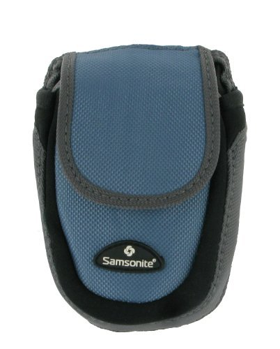 Samsonite Water-Resistant Camera Case (Blue) - Fits Canon PowerShot: ELPH 180, ELPH 350 HS, ELPH 190 IS, ELPH 360 HS, ELPH 160, G9 X, S120, SX610 HS, D30, and PowerShot N