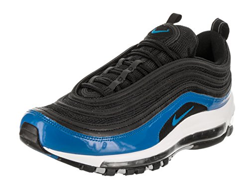 NIKE Men's Air Max 97 Black/Blue Nebula/Wolf Grey Running Shoe 11.5 Men US