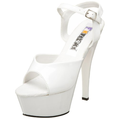 Funtasma by Pleaser Women's Juliet-209 Platform Sandal,White Patent,7 (7 Spike Heel Sandals)